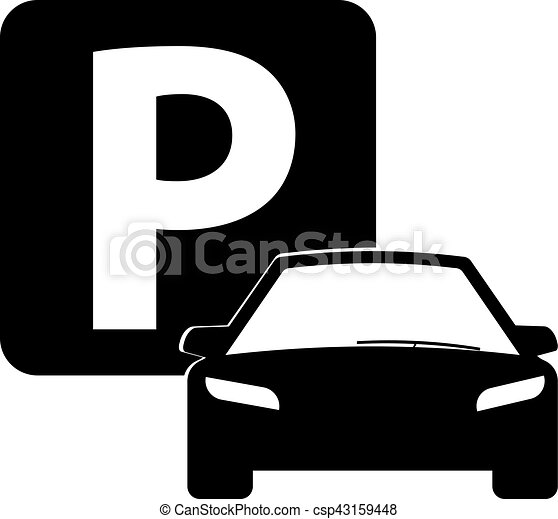 Vector Car Parking Icon Car Icon Isolated Parking Sign Car
