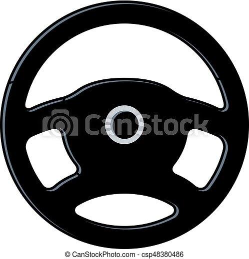 vector car steering wheel icon - csp48380486