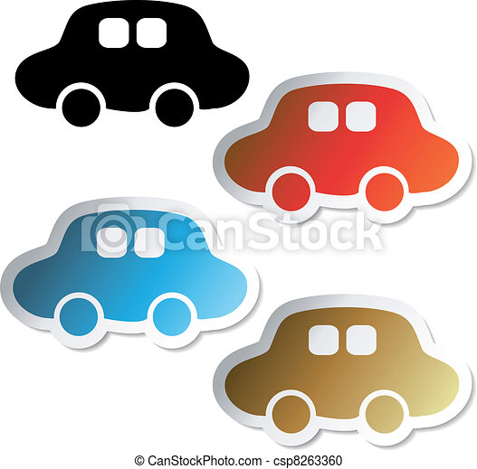 Vector car stickers - csp8263360