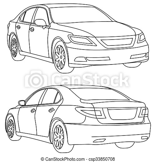 coloring pages car back view - photo#3