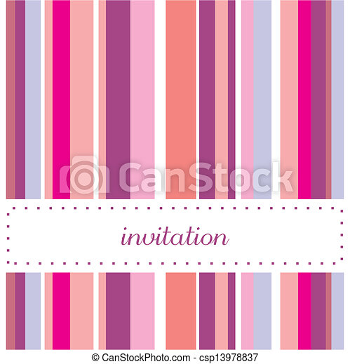 Vector card or invitation for party - csp13978837