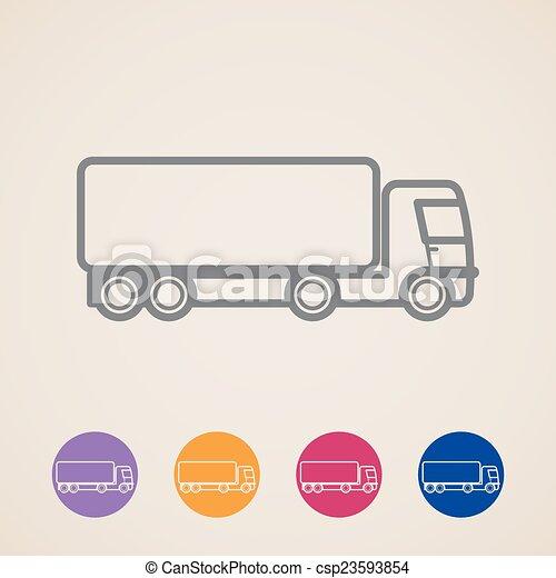 vector cargo truck icons  - csp23593854