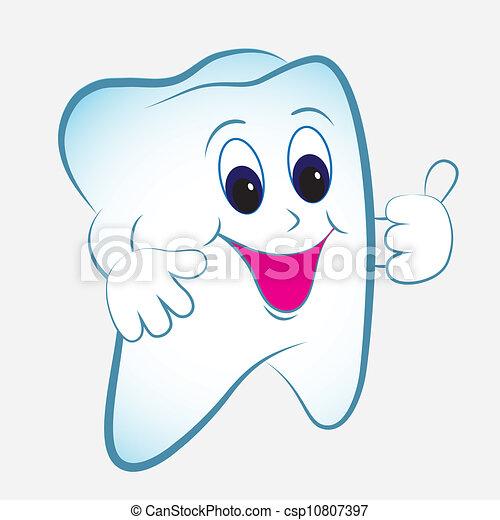 Vector de dientes de cartón - csp10807397