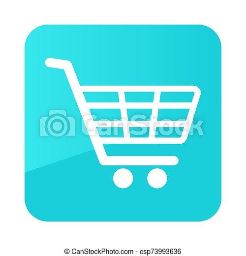 vector, carrito, alameda, icono, compras, aislado - csp73993636