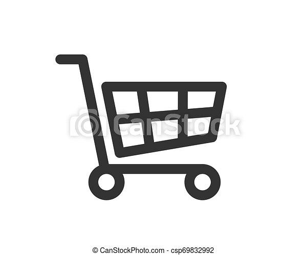 Vector de icono de carro de compras - csp69832992