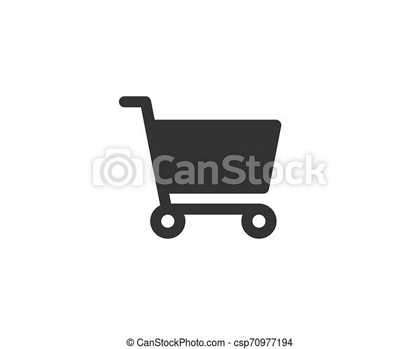 Vector de icono de carro de compras - csp70977194