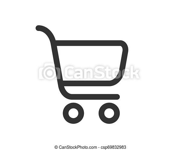 Vector de icono de carro de compras - csp69832983
