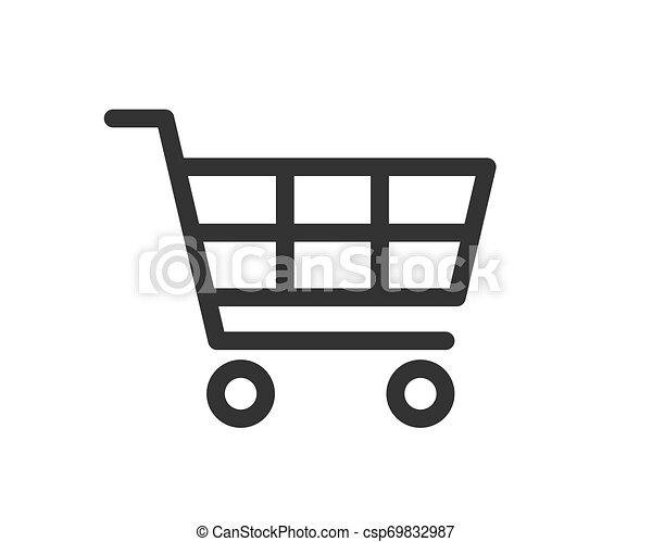 Vector de icono de carro de compras - csp69832987