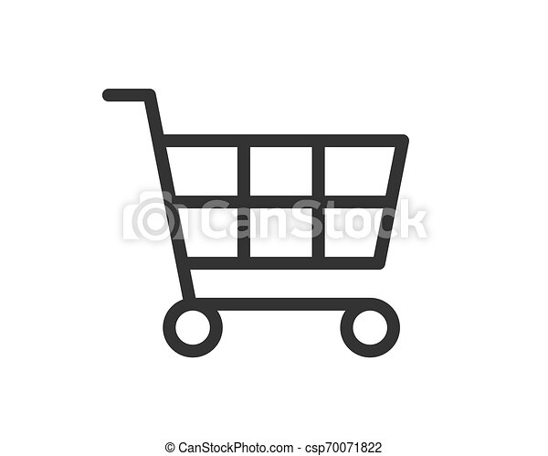 Vector de icono de carro de compras - csp70071822