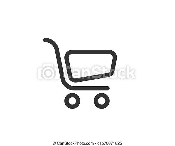 Vector de icono de carro de compras - csp70071825