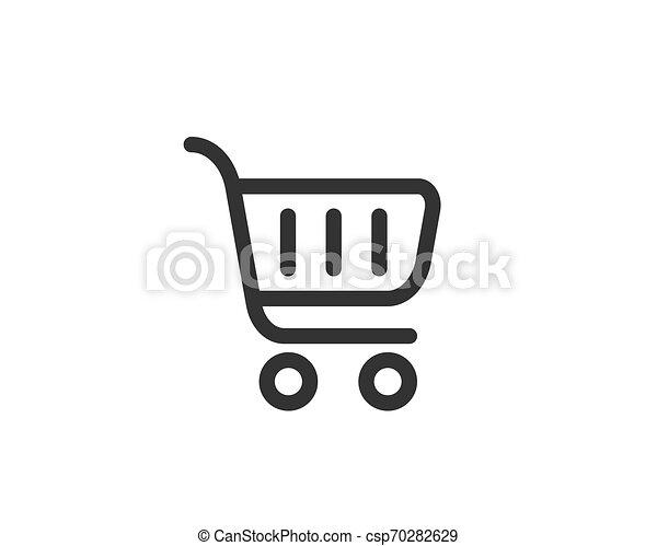 Vector de icono de carro de compras - csp70282629