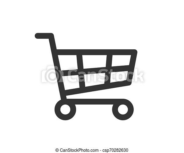 Vector de icono de carro de compras - csp70282630