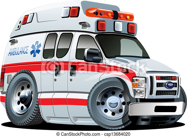 Vector Cartoon Ambulance Car - csp13684020