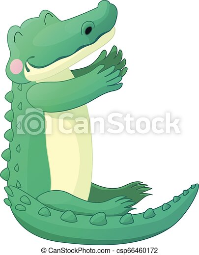 Vector Cartoon Animal Clip Art Vector Cartoon Animal Clipart Alligator Gator Croc