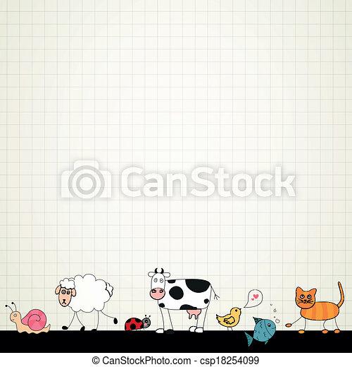 Vector Cartoon Animals - csp18254099