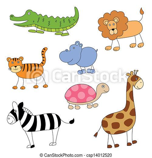 Vector Cartoon Animals - csp14012520