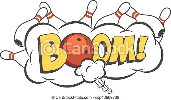 vector cartoon bowling strike illustration moving red vector rh canstockphoto com skittles rainbow clipart skittles candy clipart