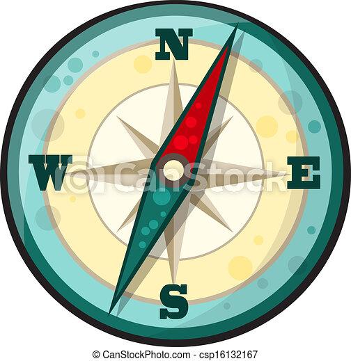Vector Cartoon Compass Vector Illustration Of Compass In Clip