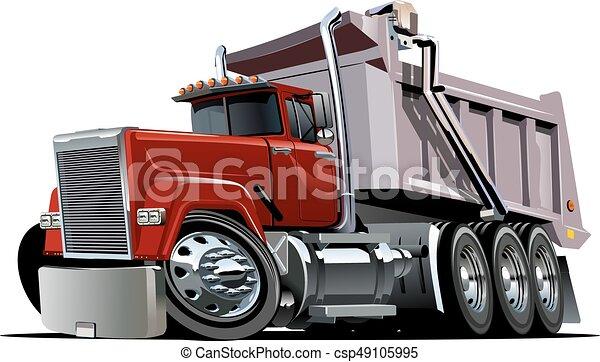 Vector Cartoon Dump Truck - csp49105995