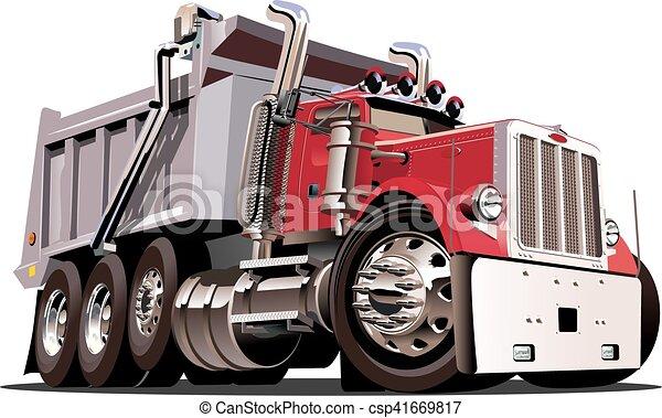 Vector Cartoon Dump Truck - csp41669817