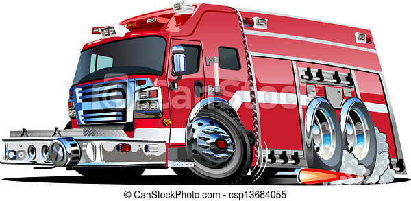 vector cartoon fire truck available eps 10 vector formats separated