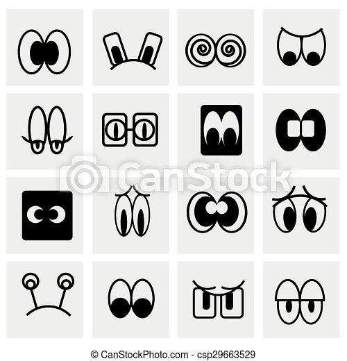 Vector Cartoon icon set - csp29663529