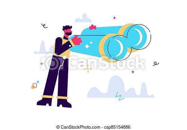 Vector cartoon illustration of Happy funny - csp85154886