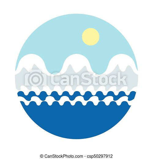 vector cartoon illustration of mountains with snow on peaks rh canstockphoto com sea victor 40 sea victory minnie falgout llc