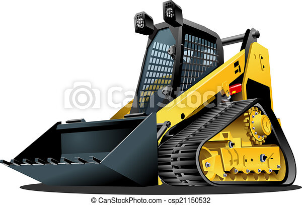 Vector Cartoon Land Clearing Mulcher - csp21150532