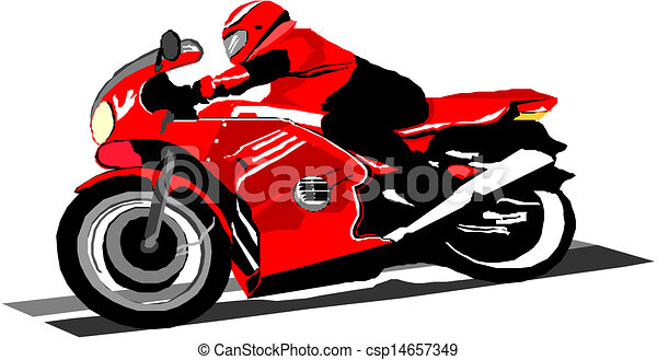 vector cartoon motorcycle eps vector search clip art illustration rh canstockphoto com harley davidson motorcycle cartoon images cartoon biker images