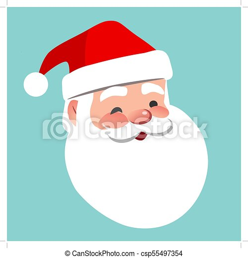 4daf53c48d12a Vector Cartoon Santa Claus Character Portrait Illustration. Friendly  Smiling Winking Santa Isolated