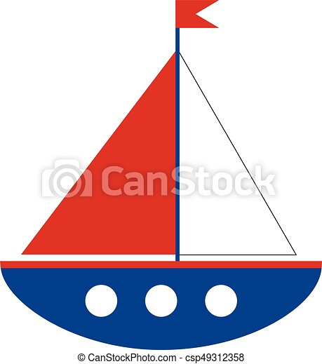 vector cartoon ship on white background boat vector clipart rh canstockphoto com