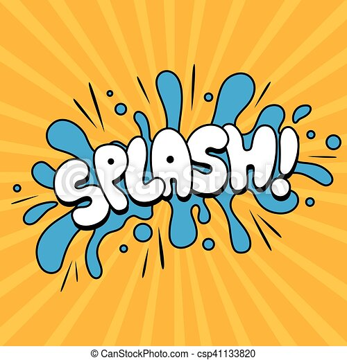 vector cartoon sound effect vector illustration of a splash cartoon