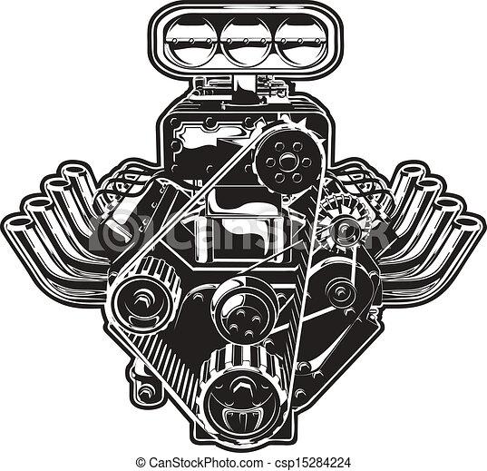 Vector Cartoon Turbo Engine - csp15284224