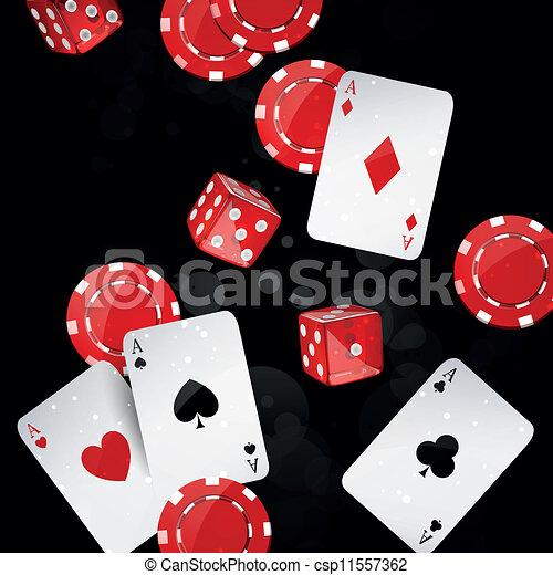 Vector casino elements - csp11557362