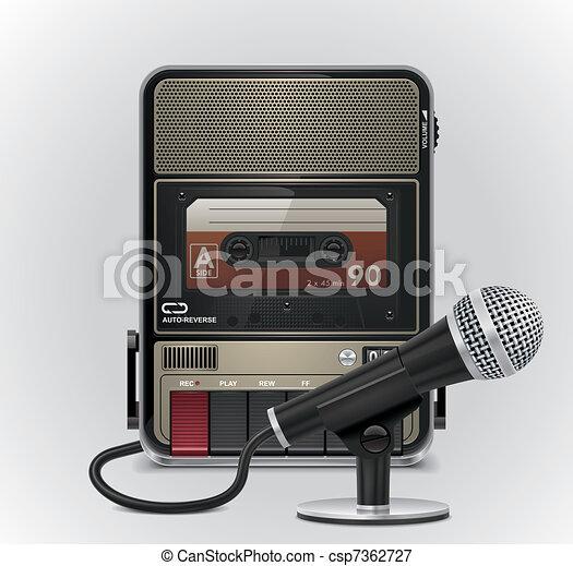 Vector cassette recorderµphone - csp7362727