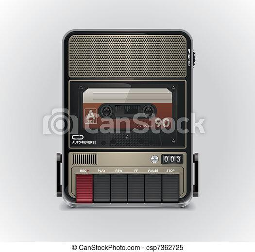Vector cassette recorder XXL icon - csp7362725