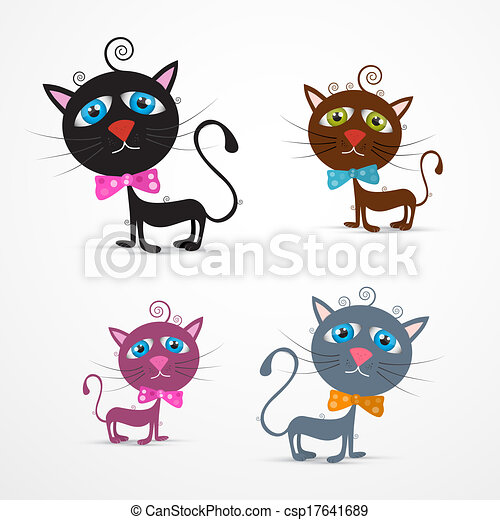 Vector Cat Illustration Set - csp17641689