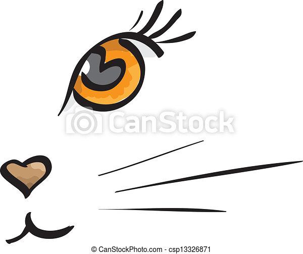 Vector cat muzzle - csp13326871