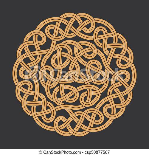 Vector celtic circle cross - csp50877567