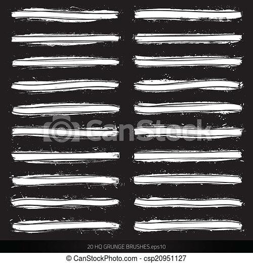 Cepillos de vector Grunge - csp20951127