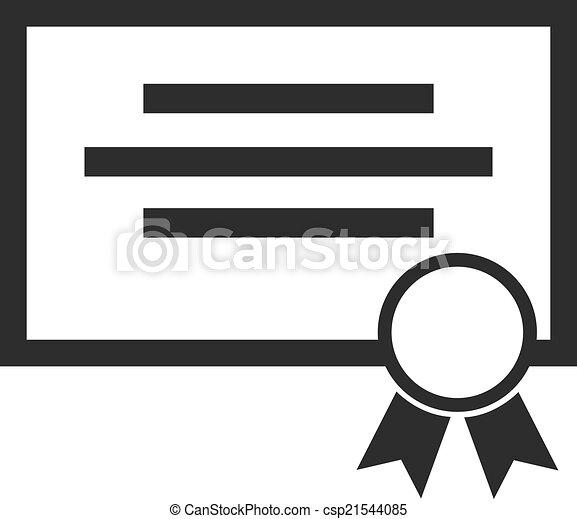 Vector Certificate Black Icon - csp21544085