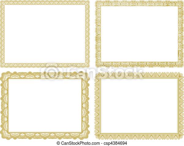 vector certificate borders set set of vector certificate borders