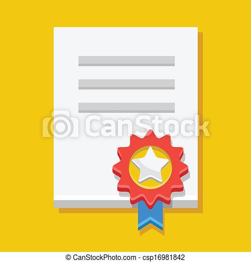Vector Certificate Icon - csp16981842