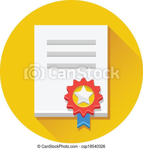 Vector Certificate Icon - csp18540326