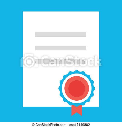 Vector Certificate Icon - csp17149802
