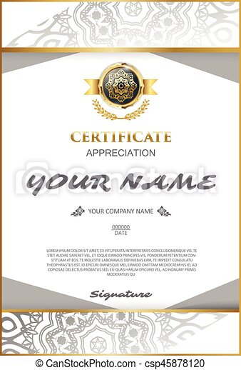 Vector Certificate Template Elegant And Stylish With The