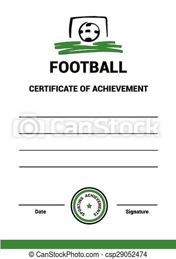 Vector Certificate Template Football Vector Certificate  Vectors