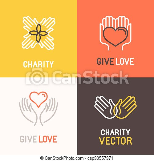 Vector charity and volunteer concepts  - csp30557371