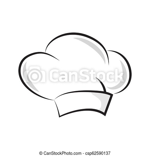 99c19b636966b Vector chef hat. baker cap isolated on white background.